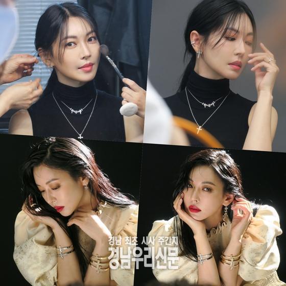 배우 김소연, '천사진'과 '천서진' 오가는 비하인드 컷 공개!